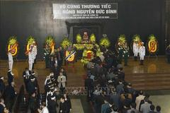 Lễ tang cấp Nhà nước nguyên ủy viên Bộ Chính trị Nguyễn Đức Bình