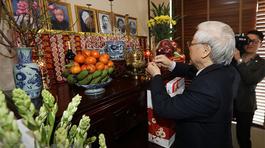 Tổng bí thư, Chủ tịch nước dâng hương tưởng niệm nguyên Tổng bí thư Lê Duẩn, Trường Chinh