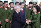 Tổng bí thư, Chủ tịch nước thăm, chúc Tết công an quận Ba Đình