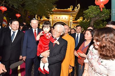 Khoảnh khắc đặc biệt của Tổng bí thư, Chủ tịch nước trước giao thừa