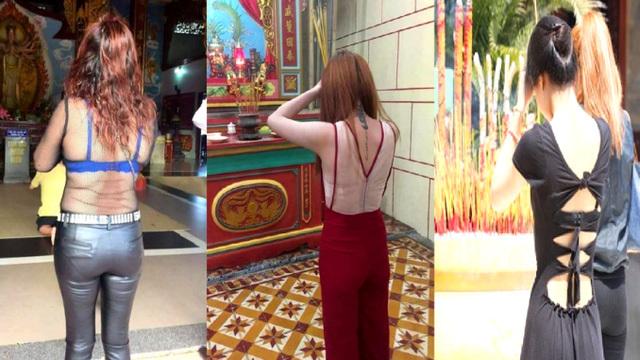 """""""Ăn mặc hở hang, khêu gợi nơi đền chùa là hành vi thiếu văn hóa"""""""