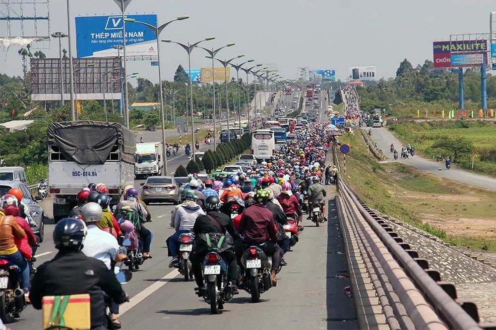 Tết kỷ hợi 2019,Vĩnh Long,Tết Nguyên đán,ùn tắc giao thông,kẹt xe