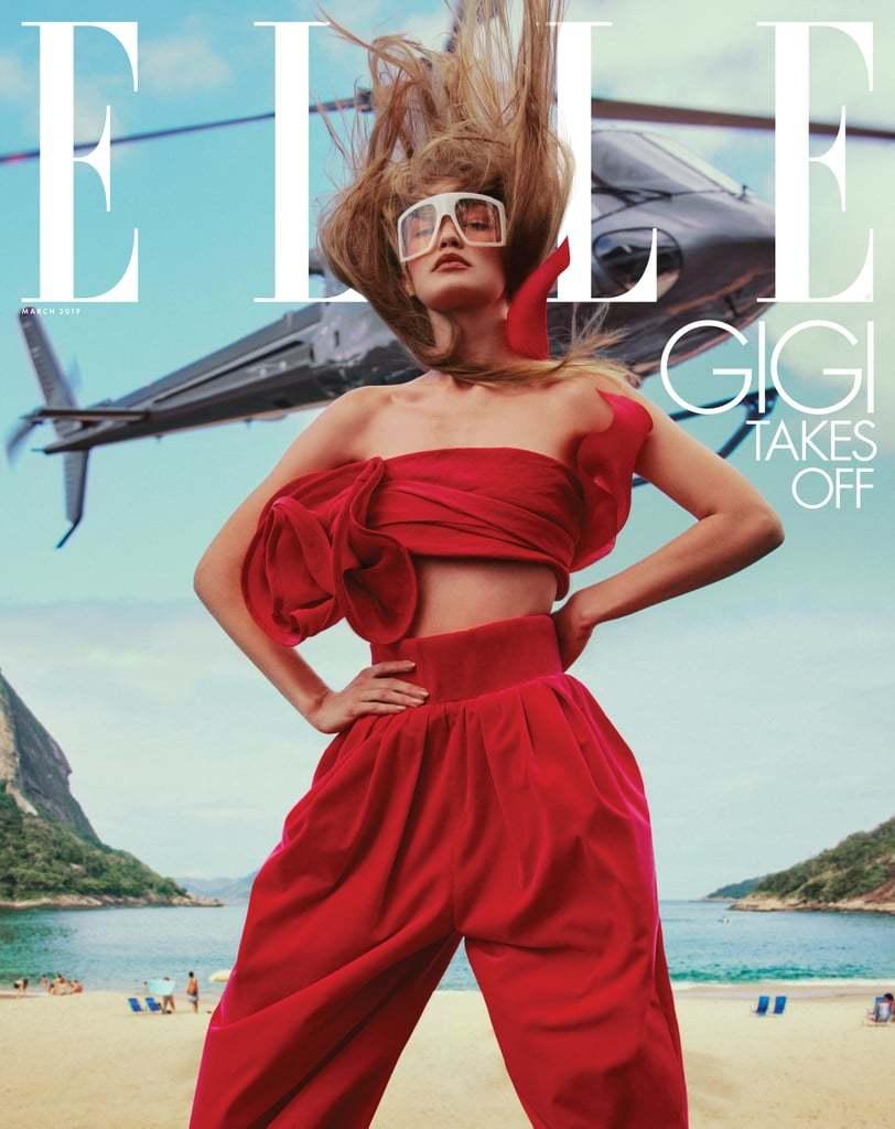 Gigi Hadid bán khỏa thân khoe vòng 1 lấp ló trên tạp chí