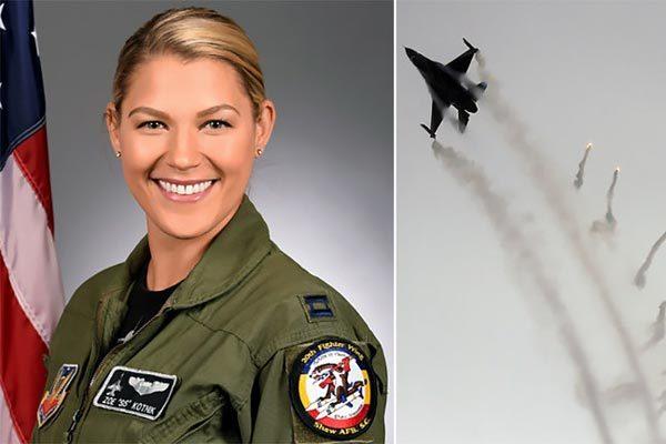 Mỹ,không quân,nữ chỉ huy đầu tiên,siêu tiêm kích,F-16