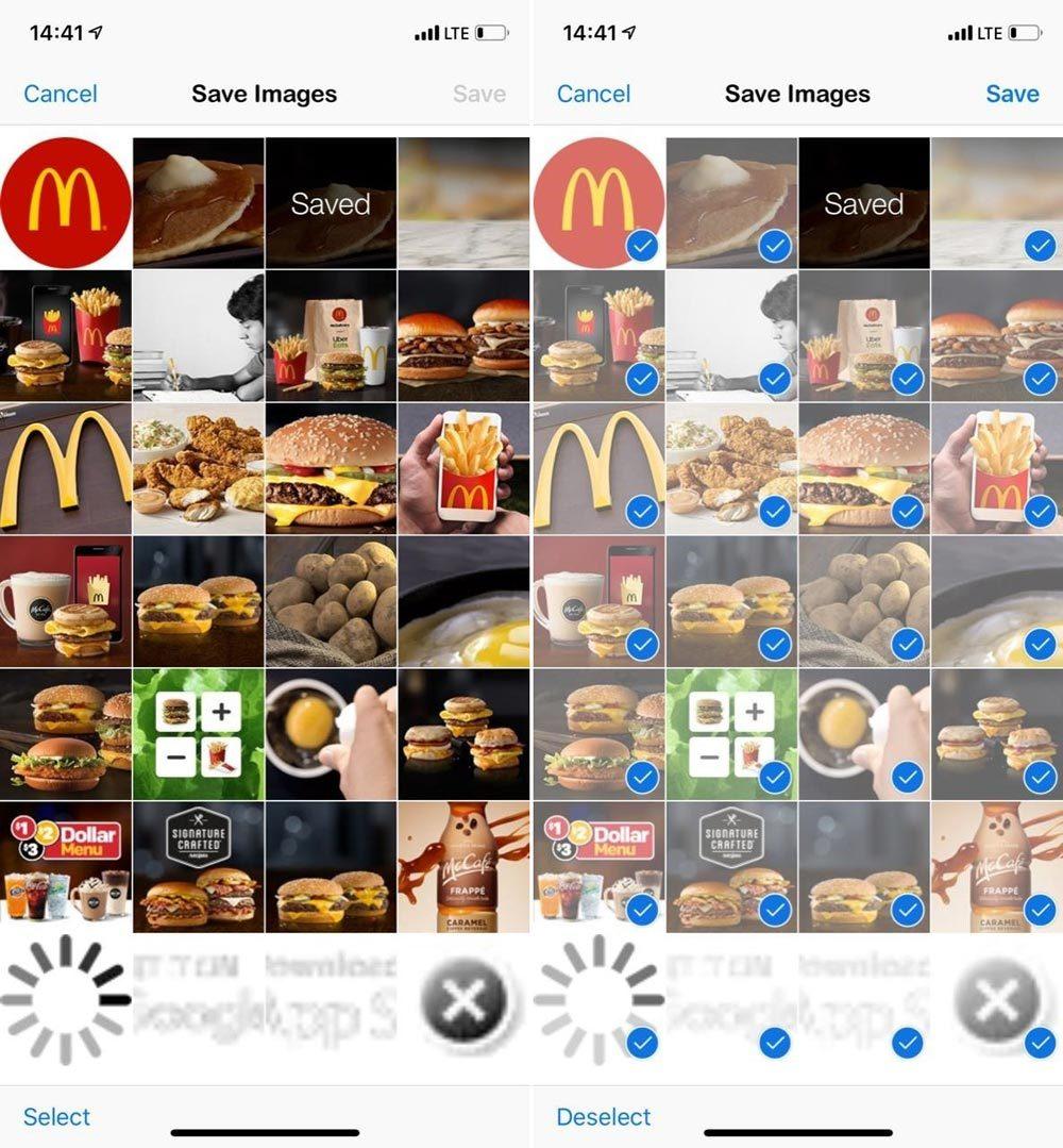 Cách tải hàng loạt ảnh bằng Safari trên iPhone