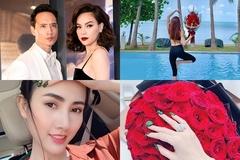 Phan Thị Mơ khoe nhẫn 5,5 tỷ, Kim Lý tặng hoa cho Hà Hồ ngày Valentine