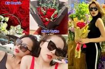 Kỳ Duyên khoe hoa người yêu tặng ngày Valentine, Minh Triệu lập tức bị réo tên