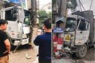Bảy giây kinh hoàng xe tải đâm xe khách, xe máy suýt chui gầm