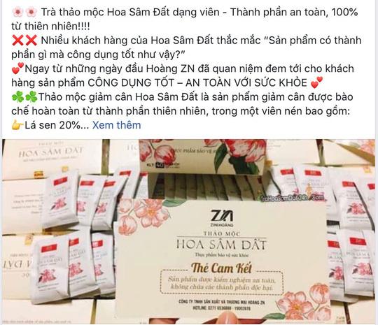 Trà giảm cân có chất cấm rao bán rầm rộ