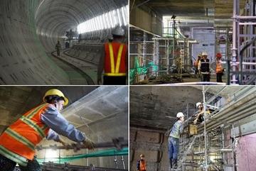 Xuống hầm xem metro số 1 ở Sài Gòn chuyển động ngày đầu năm