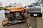 5 ô tô đâm nhau liên hoàn, xe container bay cabin, tài xế tử vong