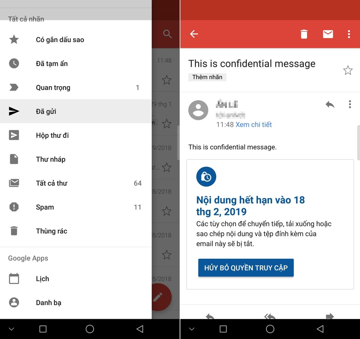 Cách dùng Gmail gửi email tự hủy
