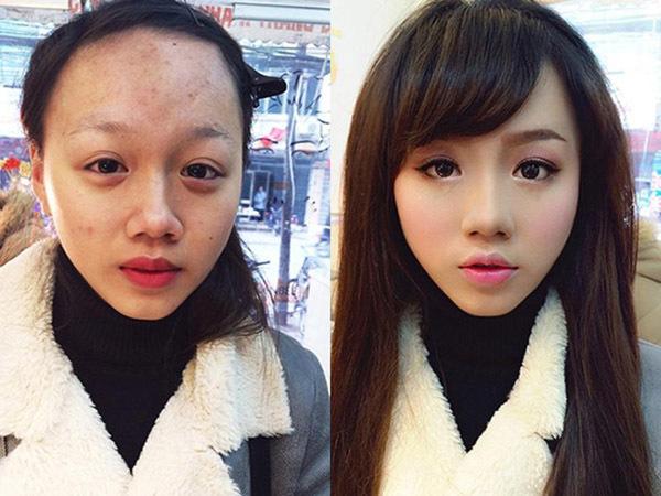 Trước và sau khi trang điểm: Khó để tin hai người trong cùng bức ảnh là một
