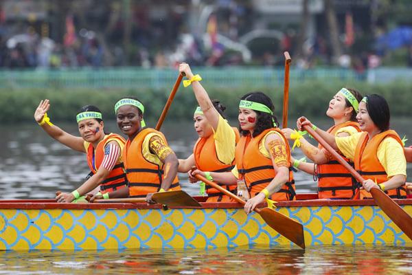 lễ hội,bơi chải thuyền rồng