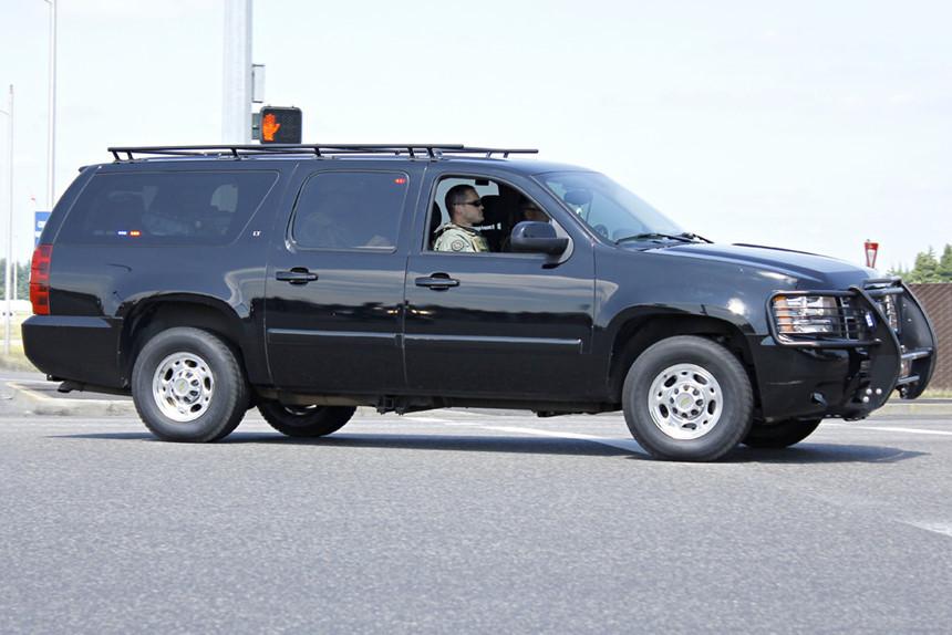Bí mật về đội hình xe hộ tống Tổng thống Trump