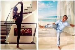 Bắt chước tư thế tập yoga của vợ, MC Quyền Linh khoe hình ảnh 'khó đỡ'