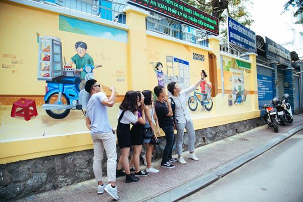 Grab làm đẹp đô thị, giảm ùn tắc với nghệ thuật