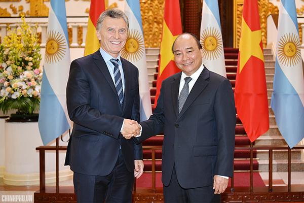 Thủ tướng: VN coi Argentina là đối tác quan trọng hàng đầu tại Mỹ Latinh