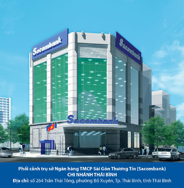 Sacombank chi 30 tỷ xây dựng chi nhánh Thái Bình