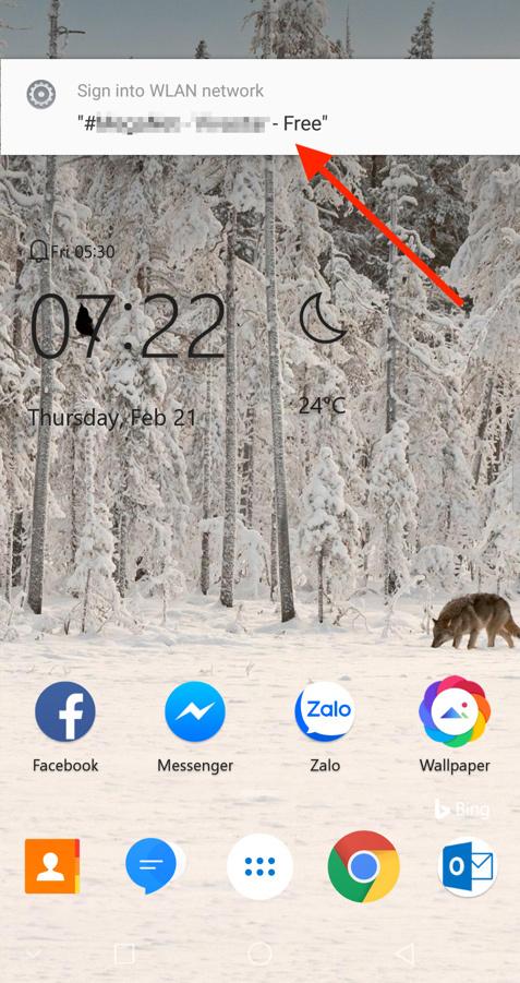 Tắt thông báo kết nối mạng Wi-Fi công cộng phiền phức trên Android