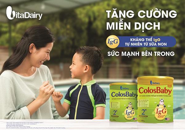 Lợi ích tuyệt vời của sữa non Colosbaby