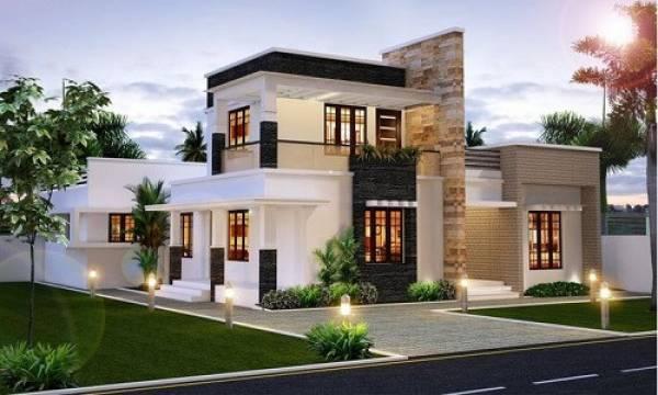 nhà đẹp,nhà 2 tầng mái bằng