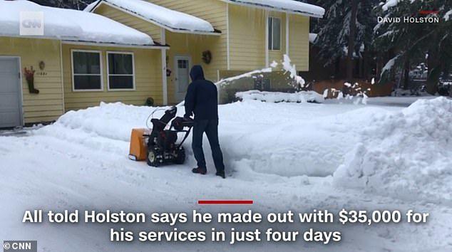 Chỉ vài ngày dọn tuyết, chàng trai Mỹ 'ẵm' hàng trăm triệu