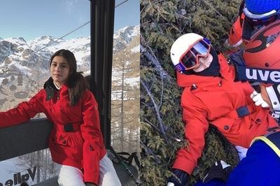 Trượt tuyết với người yêu, nữ diễn viên đâm vào gốc cây phải nhập viện