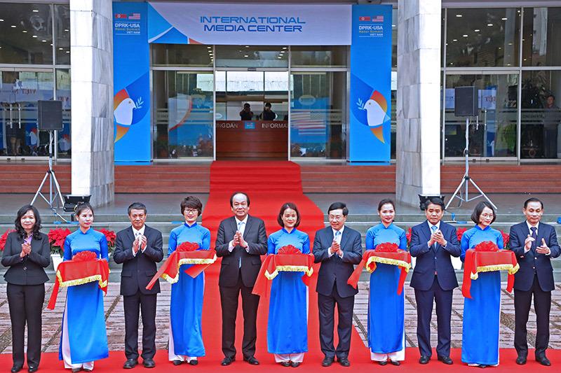 Khai trương trung tâm báo chí quốc tế hội nghị thượng đỉnh Mỹ-Triều