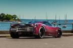 """Siêu xe Pagani Huayra diện áo đỏ carbon """"độc nhất"""""""