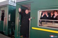 Hình ảnh lễ tiễn Chủ tịch Kim Jong Un khởi hành đến Việt Nam
