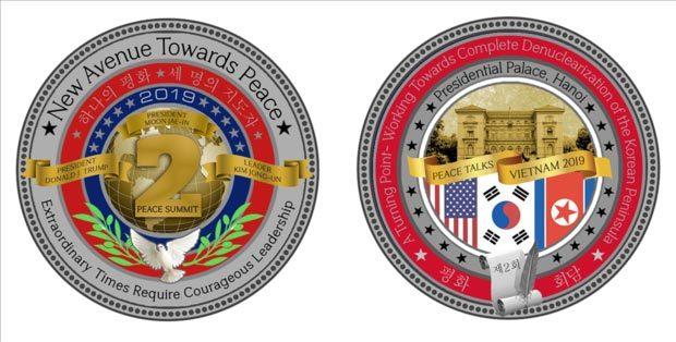 đồng xu kỷ niệm,Kim Jong Un,Donald Trump và Kim Jong Un,thượng đỉnh Mỹ Triều,hội nghị Mỹ Triều,hội nghị thượng đỉnh Mỹ Triều
