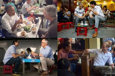 Các nguyên thủ thế giới 'la cà' ăn bánh, uống cà phê vỉa hè Việt Nam