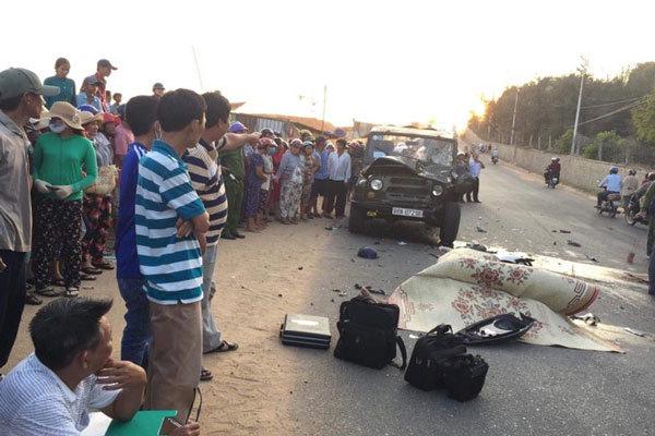 Xe máy đối đầu xe Uoát, 2 cảnh sát PCCC thiệt mạng