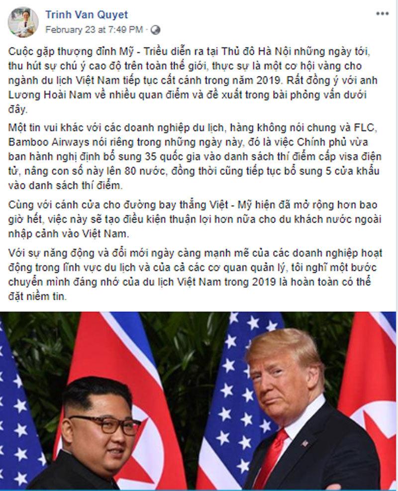 TT Donald Trump, Chủ tịch Kim Jong-un gặp nhau: Tỷ phú Việt chốt luôn vụ lớn