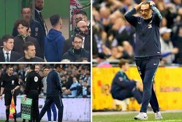 """Chelsea cãi nhau om tỏi, HLV Sarri bị thủ môn Kepa đá """"bay ghế"""""""