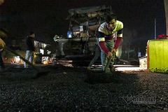 Nâng cấp ga Đồng Đăng trong đêm, dưới cái rét 11 độ