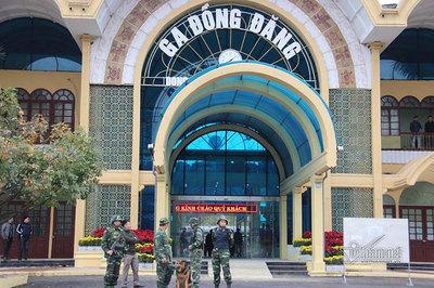 An ninh thắt chặt các lối vào nhà ga Đồng Đăng