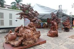 Tận thấy bộ ba tượng phật bằng gỗ quý giá gần 3 tỷ đồng