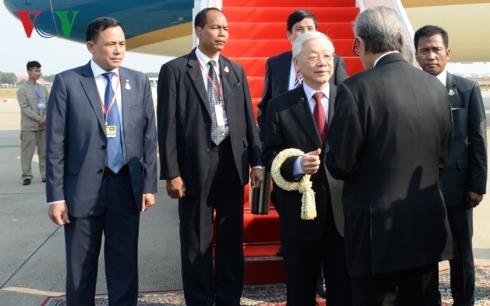 Tổng bí thư, Chủ tịch nước bắt đầu chuyến thăm cấp nhà nước Campuchia