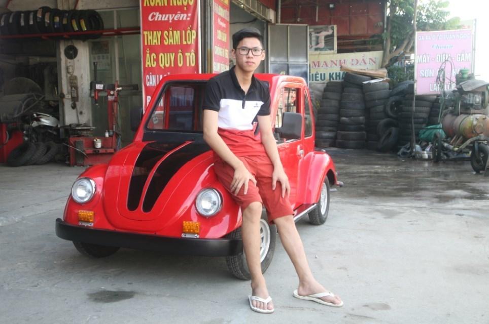 'Siêu xe' mui trần tự chế của nông dân Nam Định
