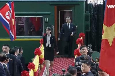 Bóng hồng tháp tùng ông Kim Jong Un đến Việt Nam