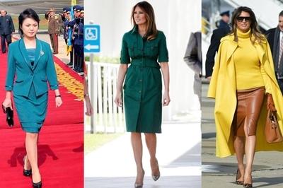 Phong cách thời trang đối lập của hai đệ nhất phu nhân Mỹ - Triều