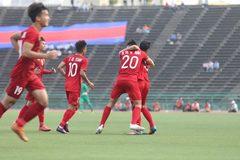 Video bàn thắng U22 Việt Nam 1-0 U22 Campuchia