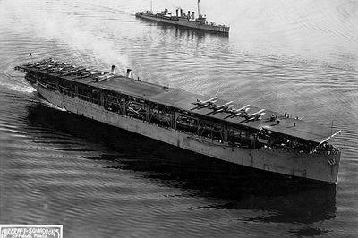 Hé lộ lý do tàu sân bay đầu tiên của Mỹ bị đánh chìm