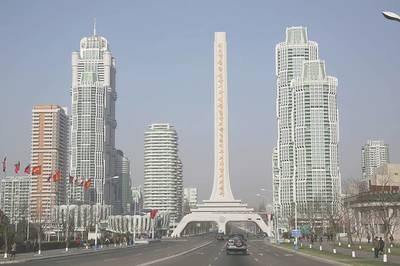 Choáng ngợp với nhà cao 70 tầng trênphố hiện đại bậc nhấtở Triều Tiên