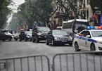 Đoàn xe Triều Tiên rời khách sạn Melia
