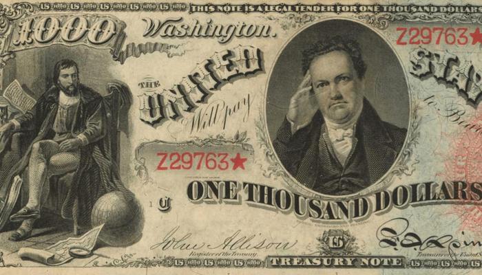 Tờ tiền mệnh giá 1.000 USD có thể được bán giá triệu 'đô'