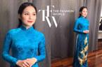 Áo dài thêu vàng 24K nữ sinh mặc khi tặng hoa Tổng thống Donald Trump