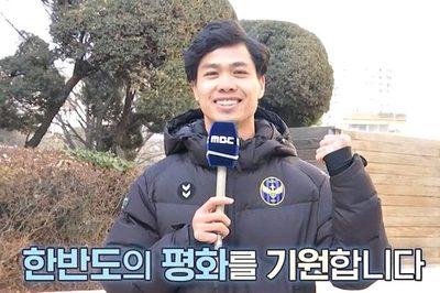 Công Phượng lên truyền hình Hàn Quốc dự báo thời tiết Hà Nội